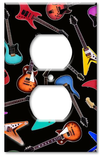 Art Plates - Electric Guitars Switch Plate - Outlet Cover