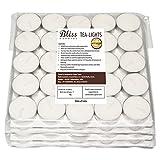 Bliss Tea-Light Candles, 10-100 (White, 3.7 cm x 1 cm)