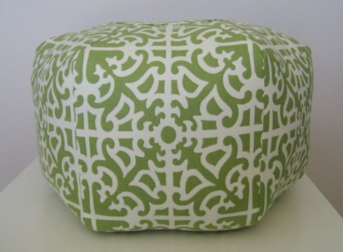 "18"" Pouf Ottoman Floor Pillow Parterre Grass"