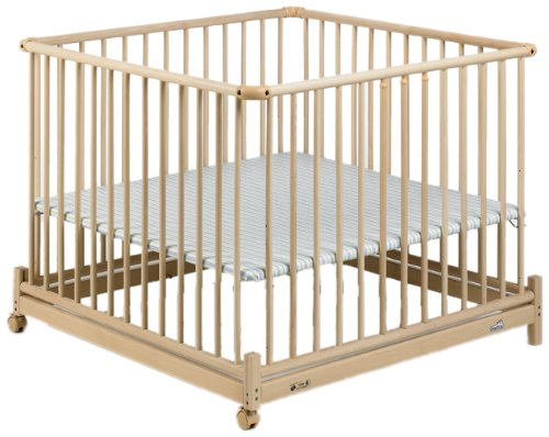 Geuther Europarc Playpen (Natural/ Stripes)