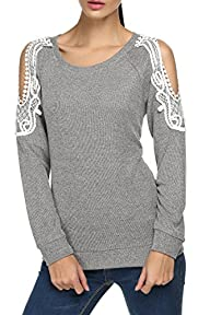 Finejo Women Long Sleeve Off Shoulder…
