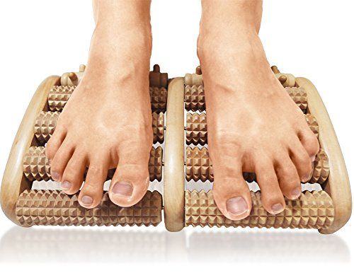 TheraFlow-Dual-Foot-Massager-Roller-Large-Relieve-Plantar-Fasciitis-Heel-Foot-Pain-Stress-Wooden-Acupressure-Reflexology-Tool-Detailed-Instructions-Tips-Sheets-Included-Bonus-Printable-PDF-e-Reflexolo