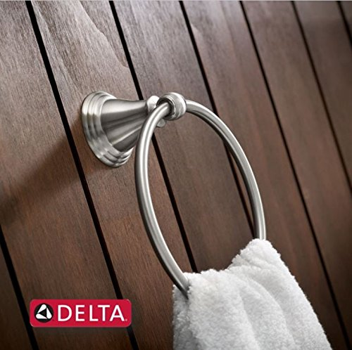 delta faucet 79646 bn windemere towel ring satin nickel 885785349786