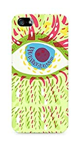 Amez designer printed 3d premium high quality back case cover for Apple iPhone SE (Psychedelic eye)