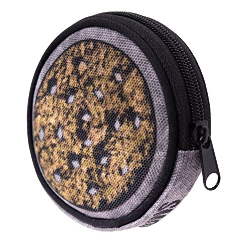 Maolanku Portamonete Stampato Rotonda Zipper Clutch Borsa Portafogli Porta Monete (Marrone)