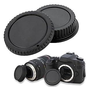 SODIAL(TM) Une paire Couvercle de protection d'objectif pour l'appareil photo pour Canon EOS Protecteur d'objectif