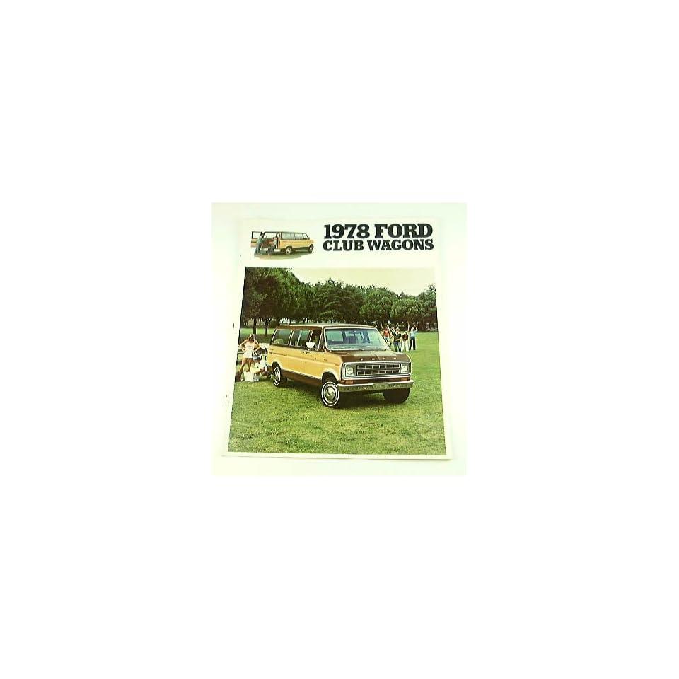 1978 78 Ford CLUB WAGON Van BROCHURE