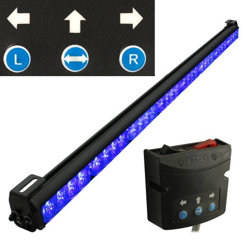 "Lamphus Solarblast 36"" Led Emergency Vehicle Traffic Advising Warning Strobe Directional Light Bar ( Other Color Available ) - Blue"