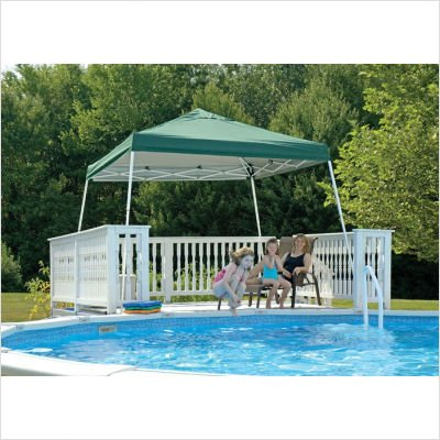 12' x 12' Popup Canopy Green Cover with Black Roller Bag Leg Type: Straight Leg, Cover Color: Blue