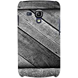For Samsung Galaxy S3 Mini I8190 :: Samsung I8190 Galaxy S III Mini :: Samsung I8190N Galaxy S III Mini Grey Wood ( Grey Wooden Pattern, Wooden Pattern, Pattern, Grey Wood ) Printed Designer Back Case Cover By FashionCops - B074ZS97X8