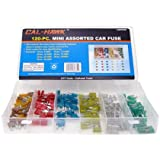 120 Assorted Car Truck Mini Fuse 5,7.5,10,15,20,25,30 AMP