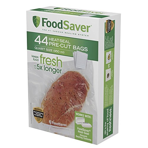 FoodSaver FSFSBF0226-FFP Bags with Unique Multi Layer Construction Vacuum Sealers, 44 Quart Size Bags, Clear (Foodsaver Amazon compare prices)