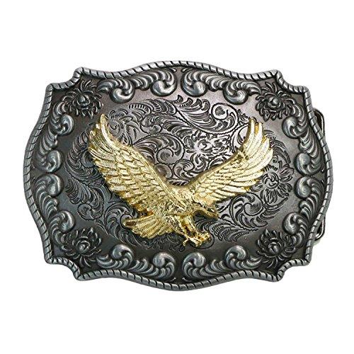 Landisun Handmade Golden Eagle Flying Belt Buckle