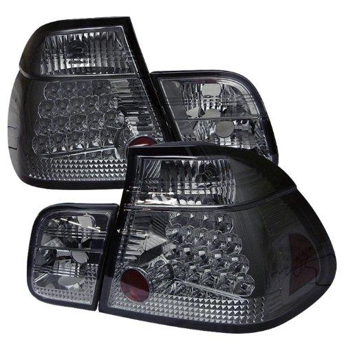 Redlines Tl-Be4699-4D-Led-Sm Smoke Medium Led Tail Light For Bmw E46 3-Series'99-'01 4Dr - Pair
