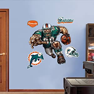NFL Miami Dolphins Dangerous Dolphin Wall Graphics by Fathead