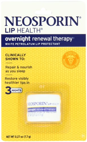 Neosporin Lip Health Overnight Renewal Therapy, 0.27-Ounce (Pack of 2)