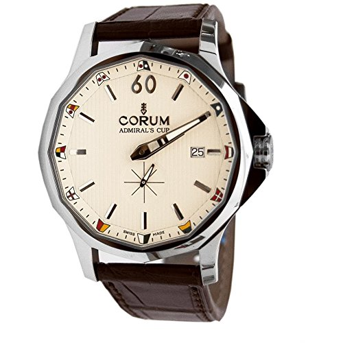 Corum Admiral's Cup Legend Homme 42mm Bracelet Cuir Marron Saphire Automatique Montre 395.101.20/0F02 AA20