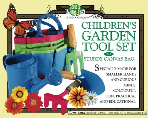 Children's Gardening Set with sturdy carry bag & tools