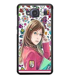 PRINTSWAG COLLEGE GIRL Designer Back Cover Case for XIAOMI REDMI 2