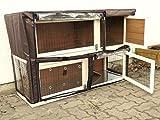 nanook Schutzhülle Hasenstall Kaninchenstall für Serie Moritz XXL Deluxe, wetterfest, 160 x 60 x 110 cm -