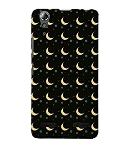 Vizagbeats Apricot Half Moon Back Case Cover for Lenovo A6000 Plus