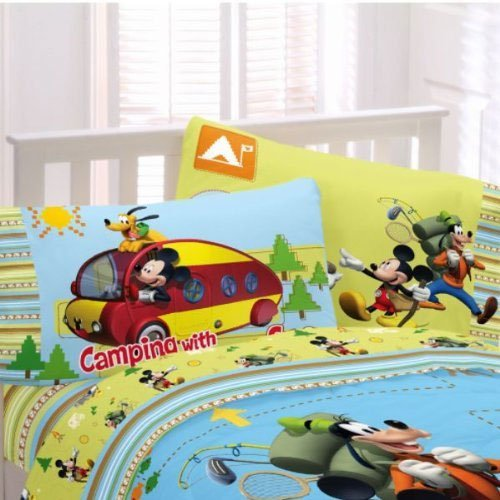 Disney Mickey Mouse Camping Set Of 2 Reversible Pillowcases front-878290