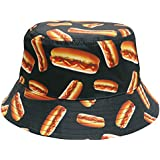 City Hunter Bd1950 Food Bucket Hat - Hot Dogs ( 2 Colors)