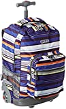 J World New York Sunrise Rolling Backpack, Horizon Navy, One Size