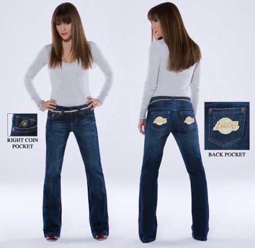 Los Angeles Lakers Women's Denim Jeans - by Alyssa Milano at Amazon.com