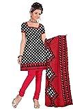 Vardhman Synthetics Print Crepe Unstitched Straight Salwar Suit dress material
