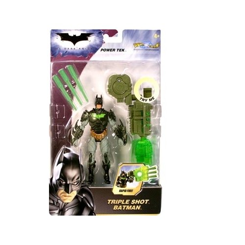 The Dark Knight Power Tek Series 1 Triple Shot Batman Action Figure - 1