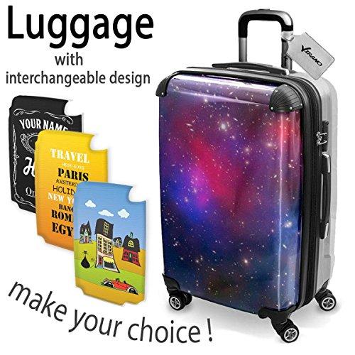 Spazio 10140, Luggage Valigia Bagaglio Ultraleggero Trasportabile Rigido con 4 Route e Disegno Intercambiabile. Dimensione: medio, M