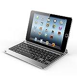【レビュー記入で送料無料 メール便発送】 iPad mini 4 Bluetoothキーボード スリープ機能付け アルミケース 【iPad mini 4 専用 無線式 Bluetooth3.0 ワイヤレスキーボード ケース カバー】 (ゴールド)