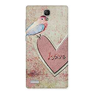 Bird On Heart Print Back Case Cover for Redmi Note Prime