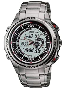 Casio Men's EFA-121D-7AVDR Edifice Analog-Digital Display Quartz Grey Watch