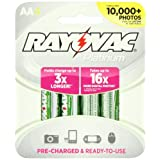 Rayovac 4 Pack Platinum Pre-Charged NiMH AA Size Batteries, PL715-4 GEN