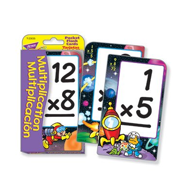 Multiplication/Multiplicacion Pocket Flash Card Game, Pack of 56