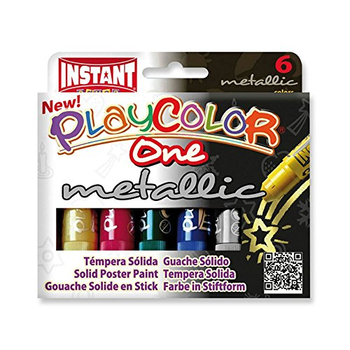 playcolor-metallic-one-10g-solid-poster-paint-stick-pack-of-6-assorted-colours