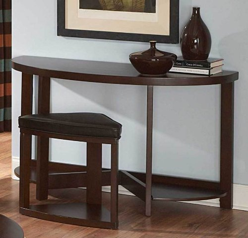 Homelegance Brussel Ii Console Table With Stool In Cherry front-443556