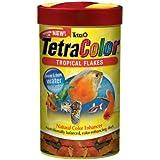 Tetra 77160 TetraColor Tropical Flakes, 1-Ounce, 185 ml