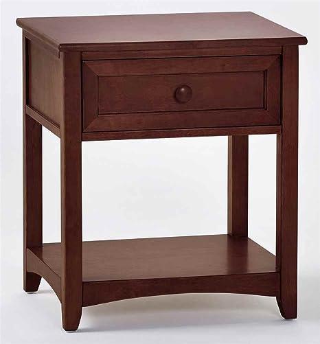 School House One Drawer Wooden Nightstand