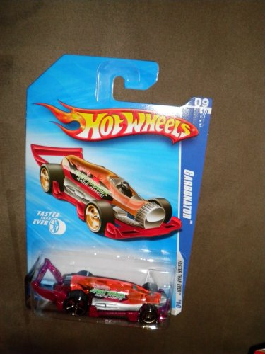 2010 Hot WHEELS FASTER THAN EVER 09/10 RED CARBONATOR - 1
