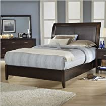 Big Sale Modus Furniture 2O26D7 Urban Loft King Size Storage Bed with Synthetic Leather Headboard Panel, Chocolate Brown