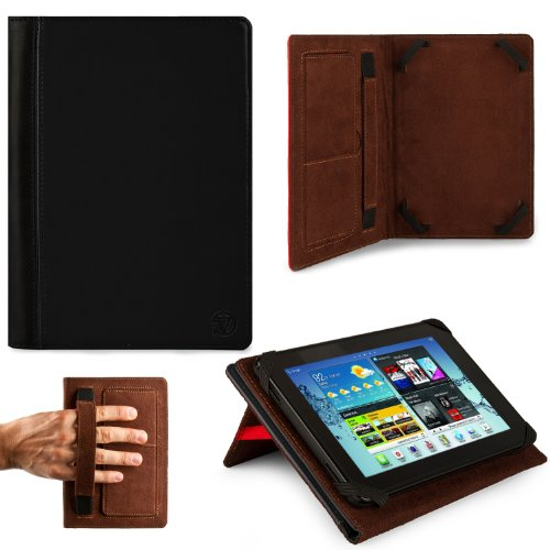 BLACK Hard Cover Portfolio Jacket Mary Case, Stand Alone, Lightweight, Protective Slimline Sturdy, Flip Folio Book Style Design For Coby Kyros 8-inch Android Internet Tablet MID8048