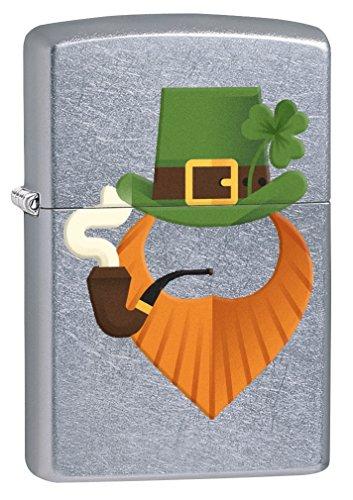 Zippo Lighter: Leprechaun Pipe Smoker - Street Chrome (Bradford Smoker compare prices)