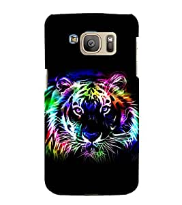 printtech Tiger Design Big Cat Back Case Cover for Samsung Galaxy S7 / Samsung Galaxy S7 Duos with dual-SIM card slots