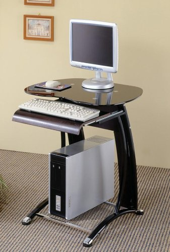 Buy Low Price Comfortable Black And Chrome Computer Desk – Coaster 800235 (B005LWQK2Y)