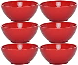 Kitchen Duniya Microwaveable Bowls, Set of 6, 50ml, Blossom Red
