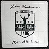"Rickey Henderson Autographed Commemorative Base ""Man Of Steal 1406"" Steiner"