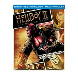 Hellboy II: The Golden Army (Steelbook) (Blu-ray + DVD + Digital Copy + UltraViolet)